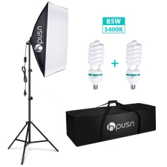 Hpusn SB01 Softbox Lighting Kit (1 Pieces Kit), Professional Photography Studio Continuous Lighting
