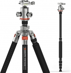 Geekoto CT32X 85 inch Carbon Fibre Profession Photography Tripod & Monopod for DSLR Camera