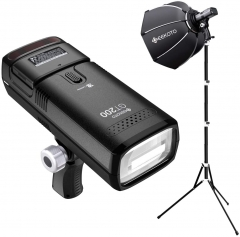 Geekoto GT200 Flash Speedlite Kit with Octagonal Softbox Kit for Professional Studio Portrait Photography