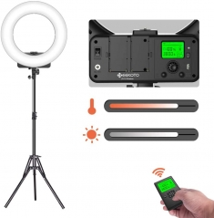 Geekoto LR18W 18 Inch LED Ring Light Kit for Cell Phone iPhone Camera Professional Photography Selfie