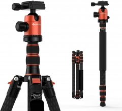 Geekoto CT28X 84 inch Carbon Fibre Profession Photography Tripod & Monopod for Camera DSLR
