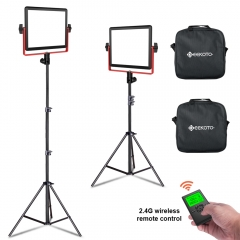 Geekoto PL20A 320 LED Panel Light Kit (2 Packs) for Video Photo Photography