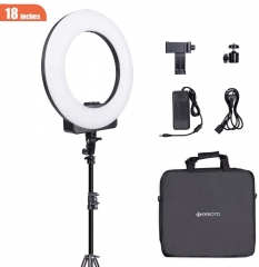 "Geekoto LR18S 18"" LED Ring Light Kit for Cell Phone iPhone Camera Professional Photography Selfie"