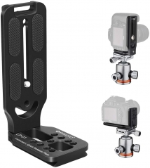 Geekoto LP01 Aluminum L-Shaped Quick Release Plate for Camera and Tripod