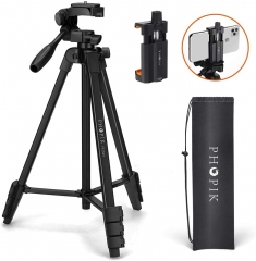 "Phopik PT204V 55"" Tripod Stand for Cell Phone iPhone Camera"