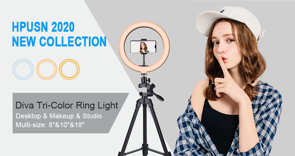 Hpusn Ring Light with Stand