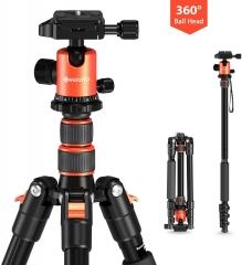Geekoto AT24 58 inch Lightweight Compact Aluminum Camera Tripod & Monopod