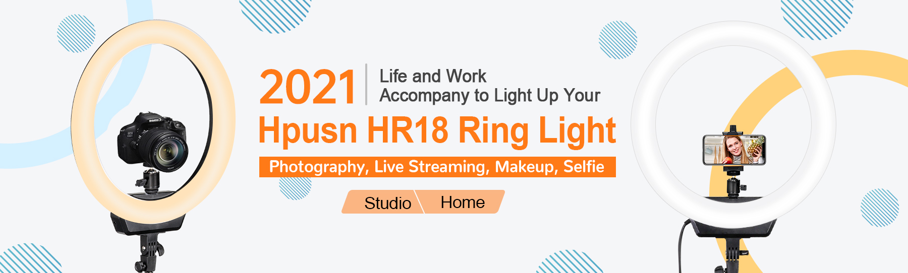 Hpusn Ring Light for Live Streaming